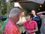 Beth Reed Wechsler talking with Steve Quatrini & others.JPG