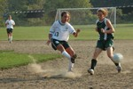 Highlight for Album: STJ Varsity Girls Soccer vs. Stowe - 9/14/05